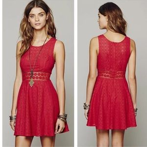 Free People Daisy Lace Boho fit and flare dress